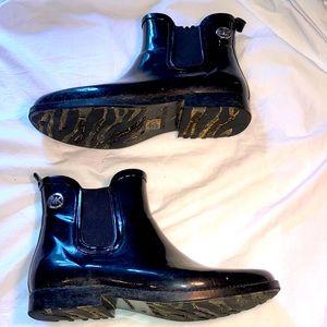 Michael Kors Black Rain Booties